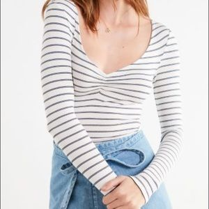 Urban Outfitters Kylie Plunging Neckline Top